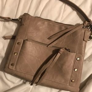 Gray crossbody bag small purse
